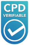 Our CPD verifiable symbol, to show when you've completed a course and have earned verifiable CPD hours